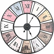 Vintage Wall Clock with Quartz Movement 60 cm XXL