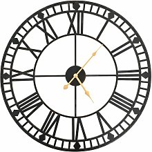 Vintage Wall Clock with Quartz Movement Metal 60