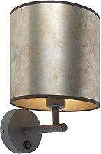 Vintage wall lamp dark gray with zinc shade - Matt