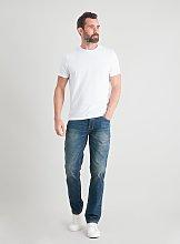 Vintage Wash Slim Fit Denim Jeans With Stretch -