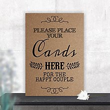 Vintage Wedding Place Your Cards Here Table Sign