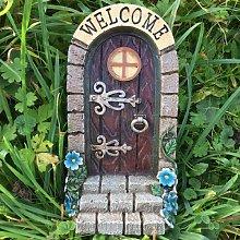 Vintage Welcome Fairy Door with Stone Steps Garden