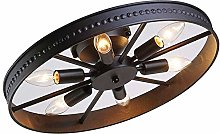 Vintage Wheel Ceiling lamp Retro Round Ceiling