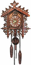 Vintage Wooden Hanging Cuckoo Wall Clock for