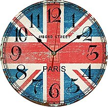 Vintage Wooden Wall Clock Large Shabby Chic Rustic