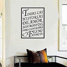 Vinyl Living Room Wall Decal Quote Art Wallpaper