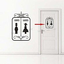 Vinyl Mural Men and Women Toilet Sign Sticker