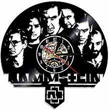 Vinyl Music Record Wall Clock 12 Inch,Heavy Metal