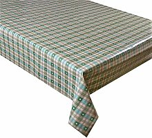 Vinyl Pvc Tablecloth 2.5 metres (250x137cm) Green