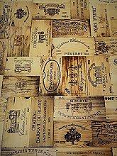 Vinyl Pvc Tablecloth Wood Effect Fine Wines 54