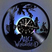 Vinyl Record Wall Clock, Alice in Wonderland LED 7