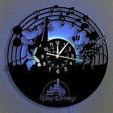 Vinyl Record Wall Clock, Mickey Mouse Vintage