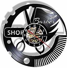 Vinyl Record Wall Clock Quartz Silent barbershop