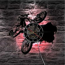 Vinyl Record Wall Clock Quartz Silent bicycle