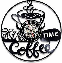 Vinyl Record Wall Clock Quartz Silent coffee