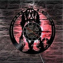Vinyl Record Wall Clock Quartz Silent dog Creative