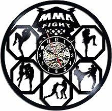 Vinyl Record Wall Clock Quartz Silent Fight
