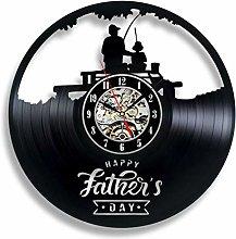 Vinyl Record Wall Clock Quartz Silent fishing