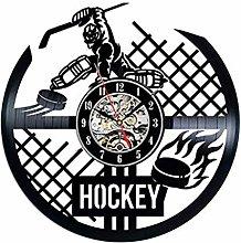 Vinyl Record Wall Clock Quartz Silent hockey