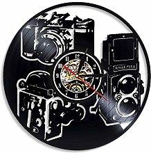 Vinyl Record Wall Clock Quartz Silent photography