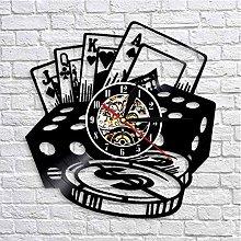 Vinyl Record Wall Clock Quartz Silent poker
