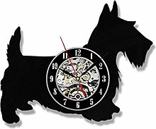 Vinyl Record Wall Clock Quartz Silent puppy