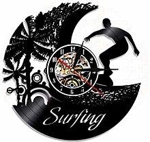 Vinyl Record Wall Clock Quartz Silent surf