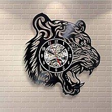 Vinyl Record Wall Clock Quartz Silent tiger
