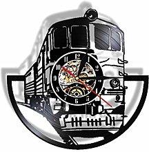 Vinyl Record Wall Clock Quartz Silent train