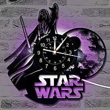 Vinyl Record Wall Clock, Star War Vintage Clock