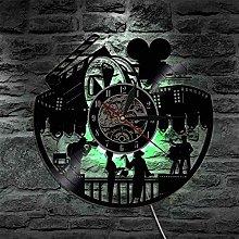 Vinyl Record Wall Clock with LED lighting clocks