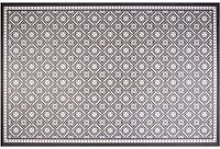 Vinyl rug with grey and white cement tile print