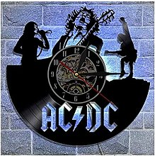 Vinyl wall clock 12 designs with ACDC rock band