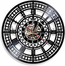 Vinyl Wall Clock Big Ben Vinyl Clock Mural Clock