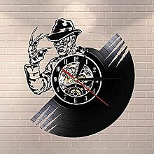Vinyl wall clock for people with long nails vinyl