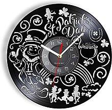 Vinyl Wall Clock Ireland National Day Festival
