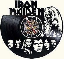 Vinyl wall clock Iron Maiden Decor Black Modern