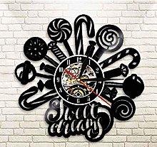 Vinyl Wall Clock Lollipop Vinyl Record Wall Clock