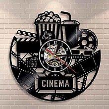Vinyl Wall Clock Movie Maker Clock Cinema Logo