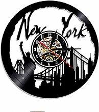 Vinyl Wall Clock-New York Statue Of Liberty Wall