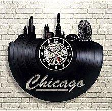 Vinyl Wall Clock Retro Minimalist Vinyl Wall Clock