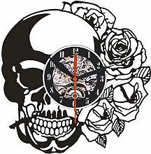 Vinyl Wall Clock Rose Art Vinyl Vinyl Wall Clock