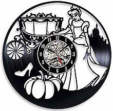 Vinyl Wall Clock Sticker Home Decor Cinderella