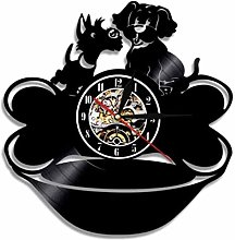 Vinyl Wall Clock Vinyl Record Wall Clock Black Pug