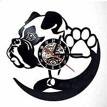 Vinyl Wall Clock-Wall Clock for Dog Lovers-Retro