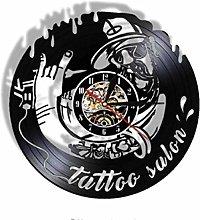 Vinyl Wall Clock-Wall Clock for Tattoo