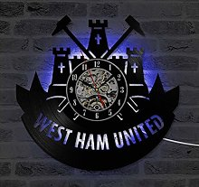 Vinyl wall clock West Ham United With 7 Color
