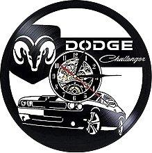 Vinyl Wall Clock with car Wall Clock Modern Design