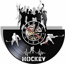Vinyl wall clock with remote control, 12 inches,
