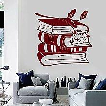 Vinyl Wall Decal Book Rose Art Mural Reading Room